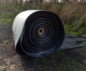 opgerolde rubber